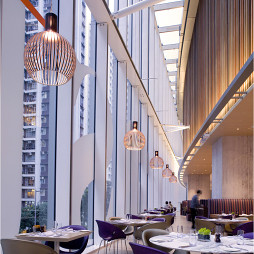 酒店餐厅落地窗装修设计