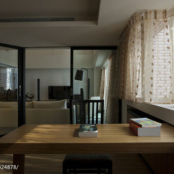 现代风书房窗台效果图