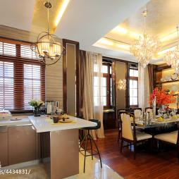 混搭风格厨房隔断样板间设计