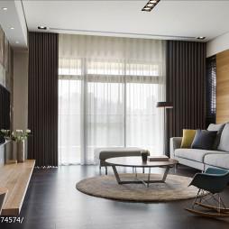 混搭简约风格客厅窗帘设计