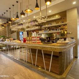 西餐厅吧台吊顶装修设计
