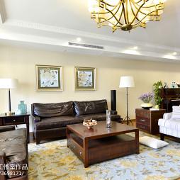 美式客厅背景墙装修设计