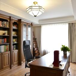 美式书房吊顶装修设计