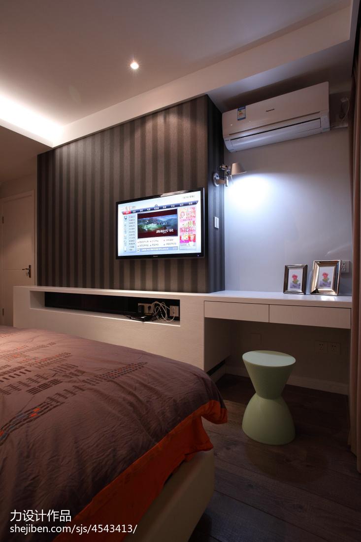 家装欧式风格效果图_个性现代卧室电视背景墙效果图 – 设计本装修效果图