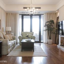 三居美式客厅窗户装修设计