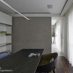 简约现代别墅书房隔断设计