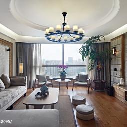 三居室中式客厅吊顶装修设计