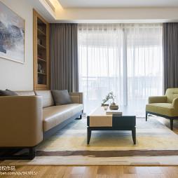 小户型现代简约客厅窗帘装修效果图