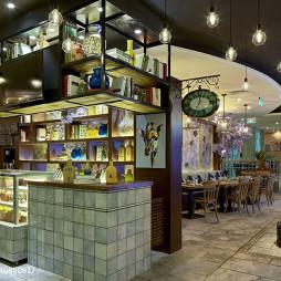 泰式海鲜火锅餐厅博古架设计