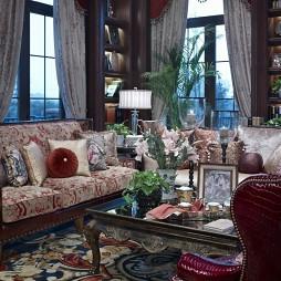 美式客厅窗帘设计效果图