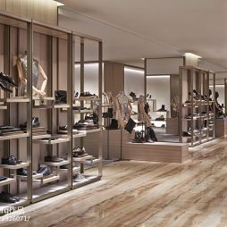 鞋子专卖店设计效果图