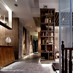 茶馆展示空间博古架设计