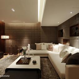混搭风格暗厅客厅装修设计