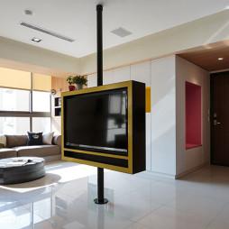 混搭风格客厅旋转电视墙装修效果图大全
