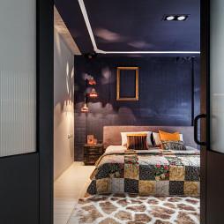 46坪混搭卧室背景墙装修设计