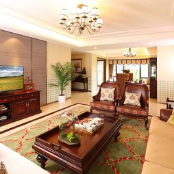 美式客厅样板房图片