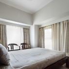 简约中式卧室窗户样板房设计