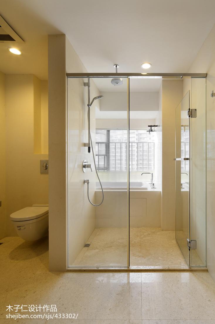 简约中式卫生间淋浴房样板房设计