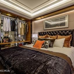 混搭风格卧室衣橱样板房装修效果图