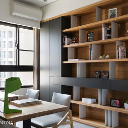 现代风格书房书柜装修效果图