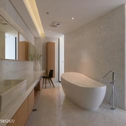 纯色现代风卫生间马赛克瓷砖装修效果图