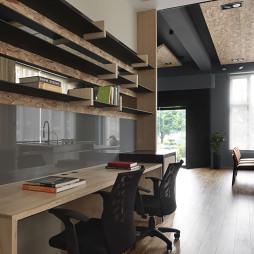 28坪住宅式办公室置物架设计