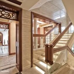 混搭风格别墅楼梯样板房设计