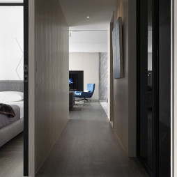 36坪现代住宅过道设计