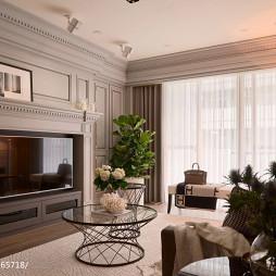 新古典风格客厅壁炉设计