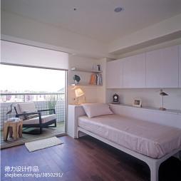 混搭风格卧室置物架装修设计