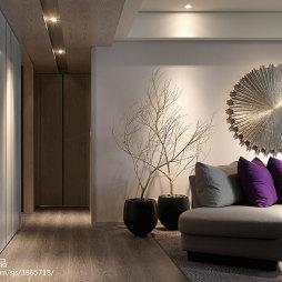 67坪坪住宅混搭客厅过道设计