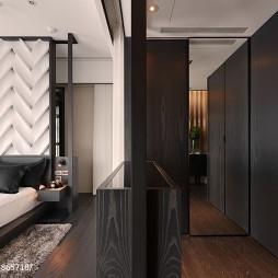 二居室现代卧室衣帽间装修设计
