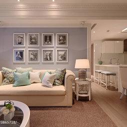 二居室欧式客厅沙发背景墙装修设计