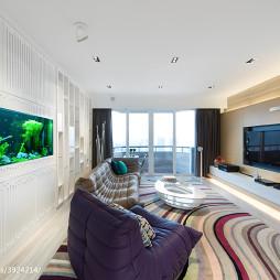 现代客厅地毯效果图