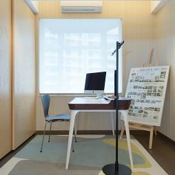现代书房窗户效果图