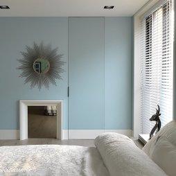 现代风格卧室隐形门设计
