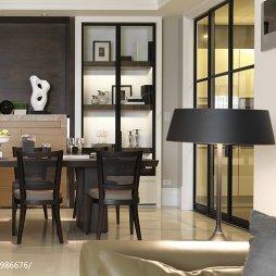 现代风格餐厅博古架图片