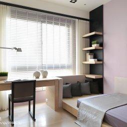 现代风卧室窗户图片
