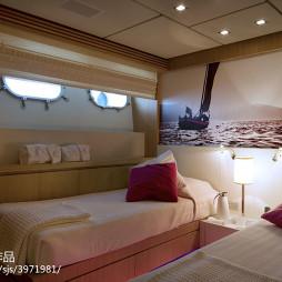 游艇卧室效果图