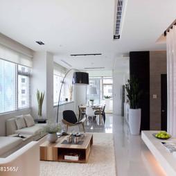 48坪住宅现代客厅效果图