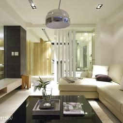 二居现代客厅隔断设计