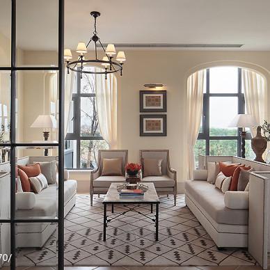 美式客廳樣板房設計