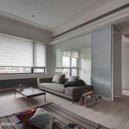 混搭简约客厅窗户设计