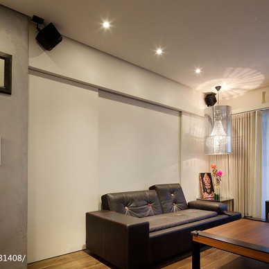 混搭风格客厅隐形门设计