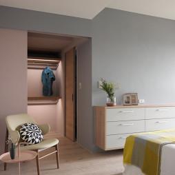 35坪住宅混搭卧室衣帽间装修设计
