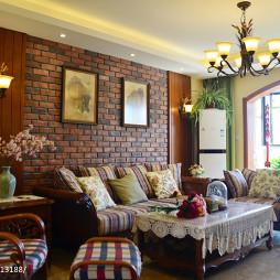 美式客厅沙发背景墙装修