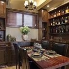 复古美式餐厅酒柜设计
