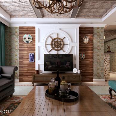 美式背景墙客厅设计