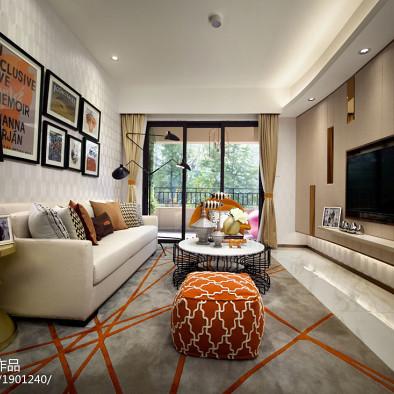 现代风格客厅精装修图库大全欣赏