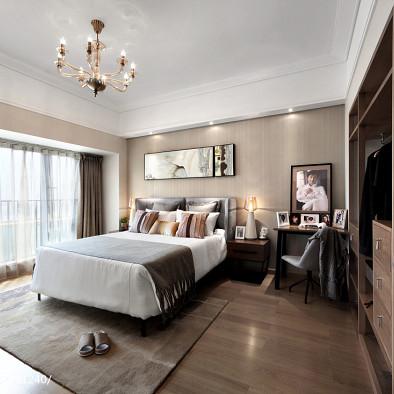 现代风格卧室精装修效果图